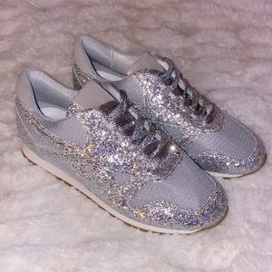 Unique stand out sparkly running shoes